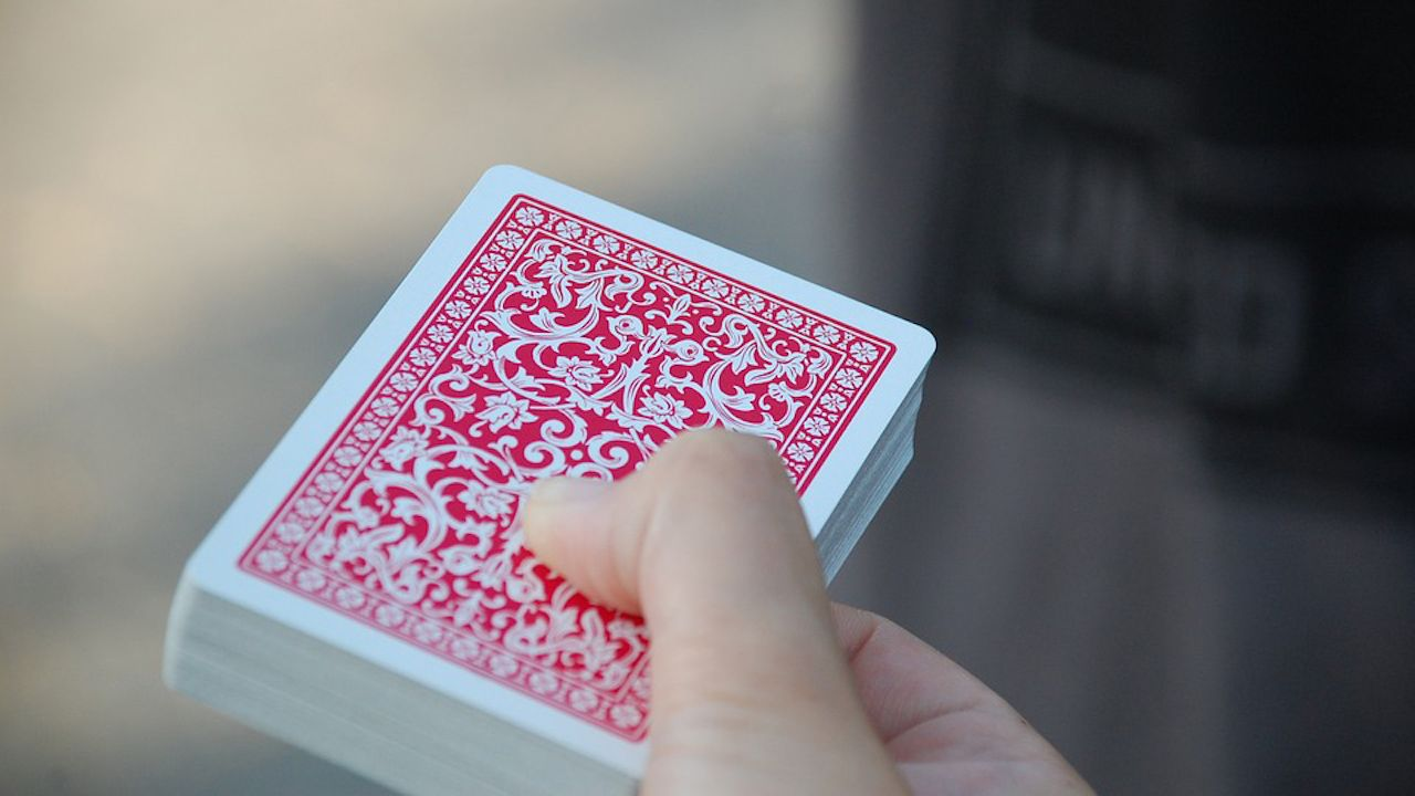 Trade Show Magician Playing Cards